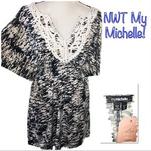 ‼️🔥NWT MY MICHELLE Butterfly Sleeve Dress!🔥‼️